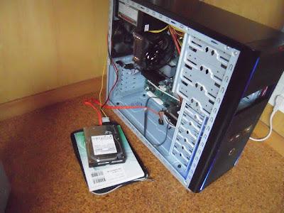 WindowsVistaHomePremiunmでHDD交換