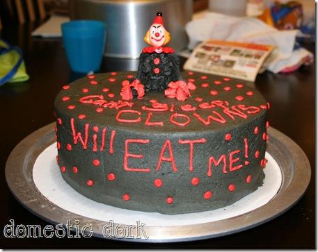 wilton cake class clown evil mocha