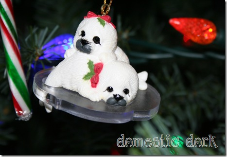 baby seal christmas ornament cute