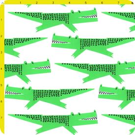 alligator crocodile i spy swap fabric