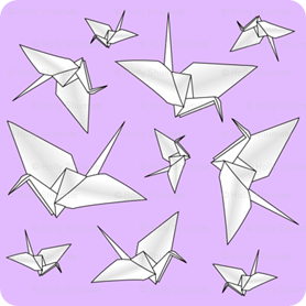 i spy swap fabric paper origami cranes