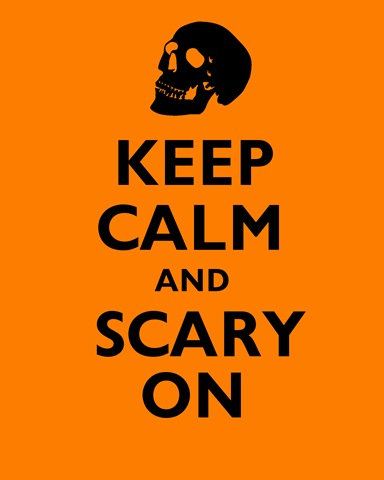 free halloween printable poster skull