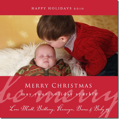 christmas 2010 card sample