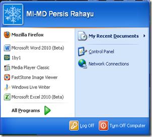 start menu edit