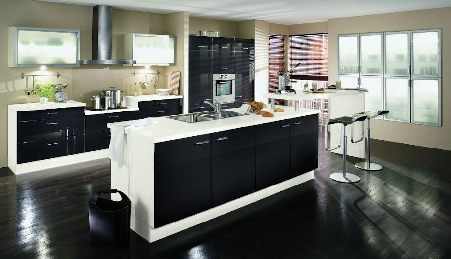 messek che hochglanz schwarz mit wei em korpus und gro er. Black Bedroom Furniture Sets. Home Design Ideas