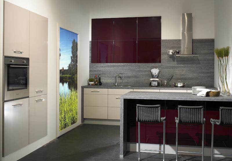 moderne 2800 wohnk che zum spitzenpreis front hochglanz rot beige ebay. Black Bedroom Furniture Sets. Home Design Ideas