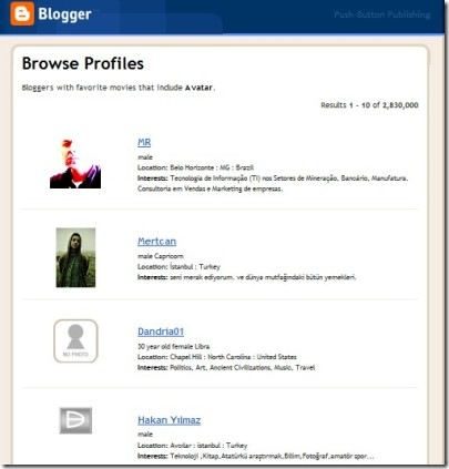 browse profiles