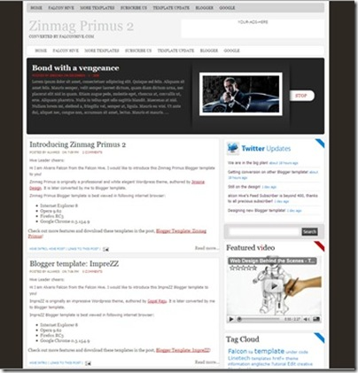zinmag primus 2 blogger template
