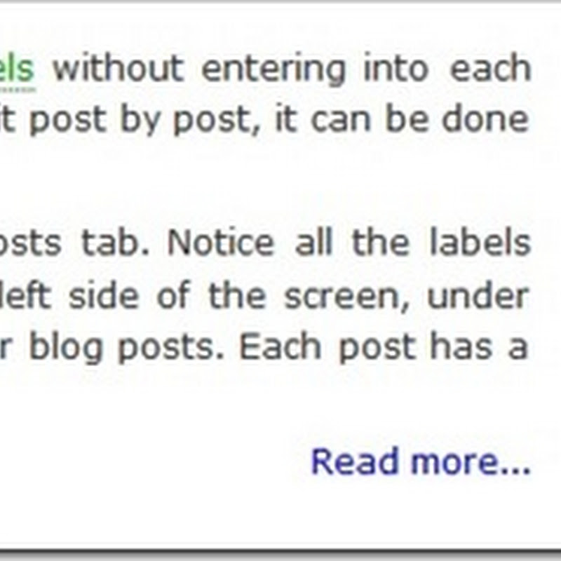 "Blogger ""read more"" without the bug"