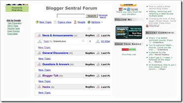 blogspot forum before