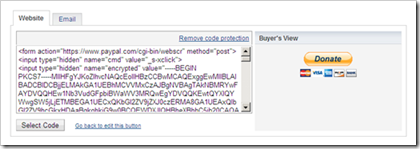 paypal donation button html code