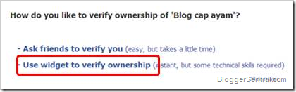 verify ownership