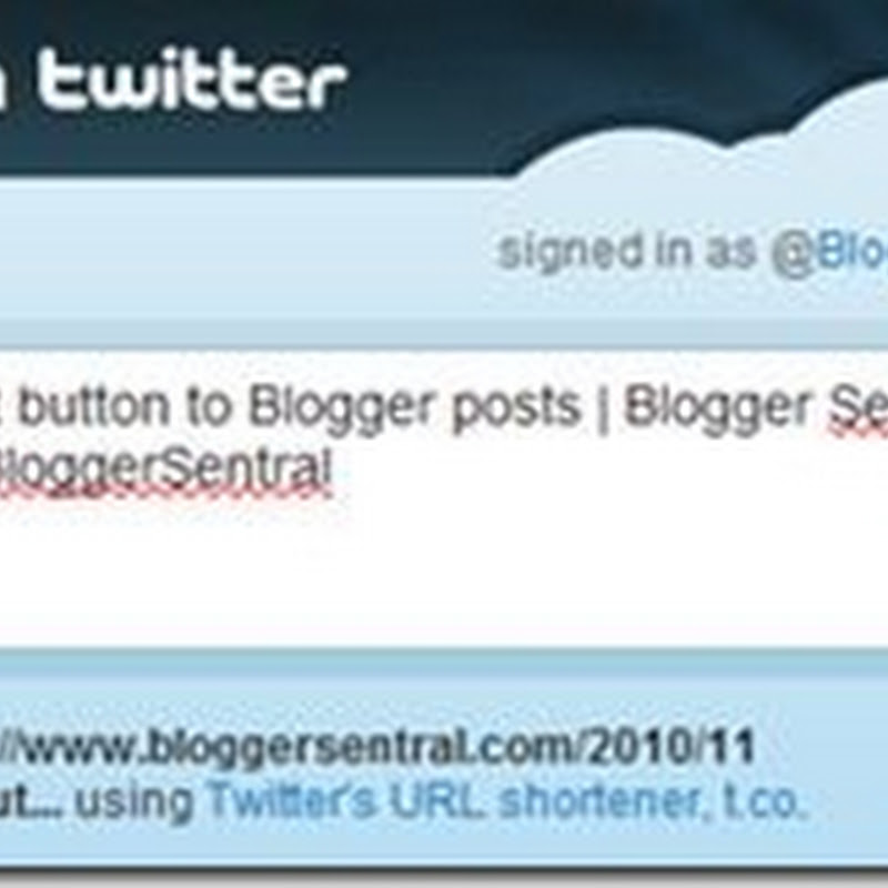 Add Twitter tweet button to Blogger posts