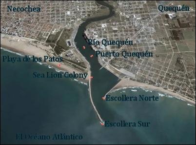 Aerial View of Puerto Quequén, Argentina