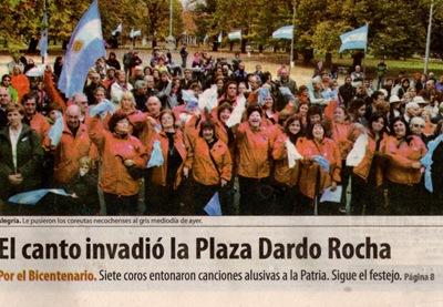 Masa Coral, Plaza Dardo Rocha, Necochea, Argentina