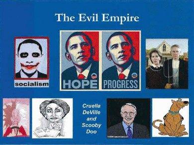 Typical teaparty anti-Obama-Pelosi-reid imagery