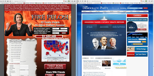 RNC and DNC websites