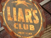 'Liar's Club' sign