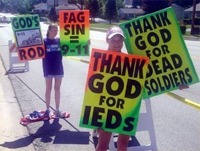 Westboro protesters