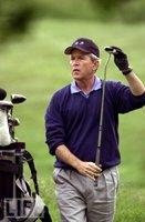 Bush golfing
