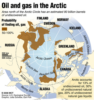Arctic reserves map