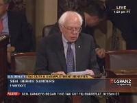 Sanders filibusters