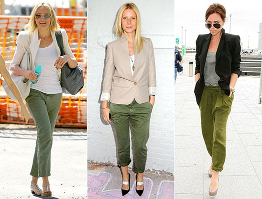 Pants-Cropped-Olive-Green-Celebrities-People