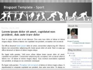 sport blogspot template, sport templates