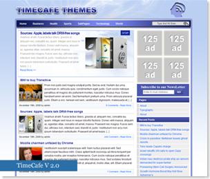 TimeCafe Premium Free V 2.0 Wordpress Theme, premium free wordpress theme
