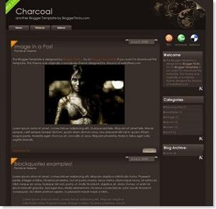 charcoal 2 columns, blogspot template