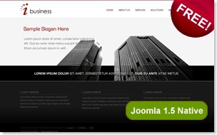ibusiness joomla template, native joomla templates