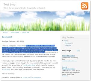 Erudite Blogspot Template, plain blogger templates, clean template