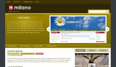 milano blogger template, blogspot templates, blogger skins, web 2.0 theme