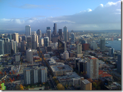 Looking downtown from the Space Needle
