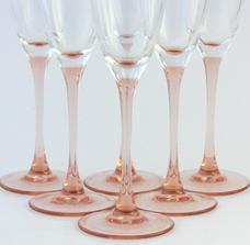 Luminarc Pink Champagne Flutes - etsy.com