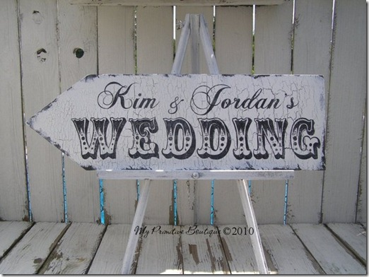 wedding this way. vintage signs