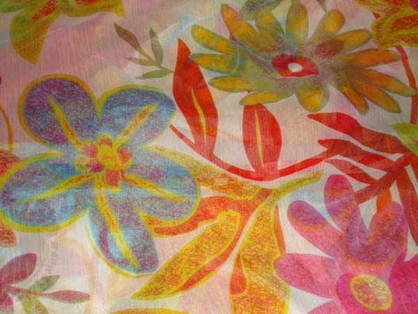 polyester chiffon print