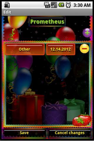 事件提醒(生日) 個人化 App-癮科技App