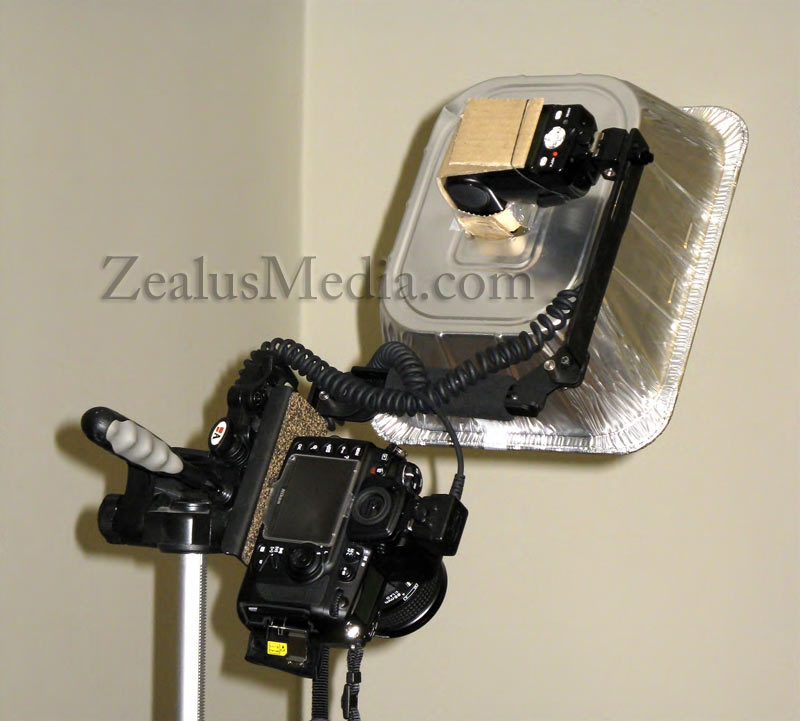 DIY Beauty Dish For Less Than $10 - rear view, fully assembled
