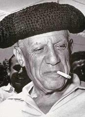 Picasso con montera (fot. André Villers, 1953)