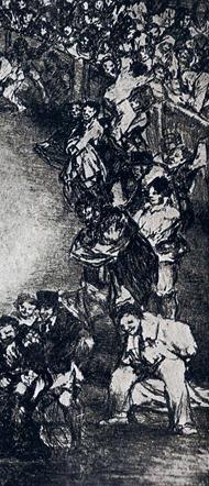 Los toros de Burdeos. Lámina II Dibersión de España. Goya 001 -DETALLE