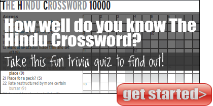 The Hindu Crossword Quiz