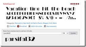 ballet font
