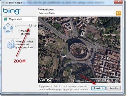 Inserire una mappa di bing in un post con windows live for Centrare un div