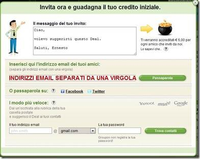 groupon+inviti+facebook+twitter