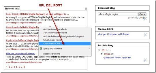 ricerca blogger elenchi di link