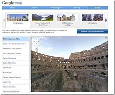 galleria storica google maps