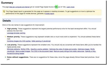 page speed online score
