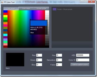 pf color tool