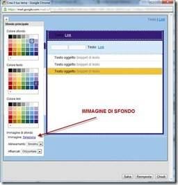 configurare tema gmail immagine sfondo